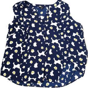 Talbots Women Petites 2xp Sleeveless Flower Print